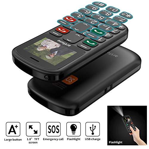 artfone Seniorenhandy ohne Vertrag   Dual SIM Handy mit Notruftaste   Rentner Handy große Tasten   GSM Handy   Großtastenhandy (CS181) - 3