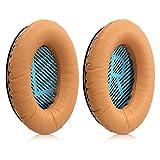 kwmobile Almohadillas compatibles con Bose Quietcomfort - 2X Almohadilla de Repuesto para Cascos y Auriculares en Cuero sintético