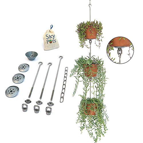SkyPots —  Hang and Connect Your Everyday Pots, All New Vertical Garden Kits