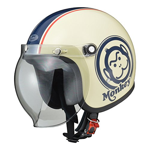 Honda(ホンダ) バイクヘルメット ジェット モンキー アイボリー ブルー L(59-60センチ未満) 0SHGC-JM1A-WBL