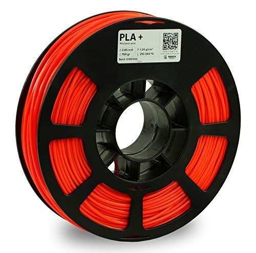 KODAK Filamento di stampa 3D PLA+ (arancione fosforescente, 2,85 mm)
