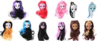 Globalwells 5pcs doll heads for ever after Dolls,Doll Accessories Heads For Monster toys high doll DIY Heads (send Random ...