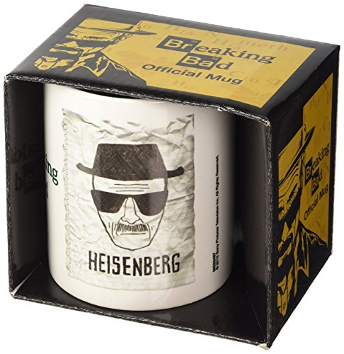 Breaking Bad Taza Heisenberg Wanted, Cerámica, Blanco, Unico