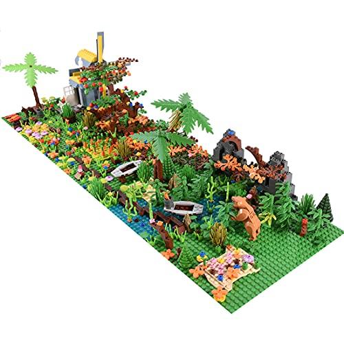 Morton3654Mam Juego de construcción de la isla tropical, 1018 piezas, bloques de construcción, juego con placas base compatible con Lego