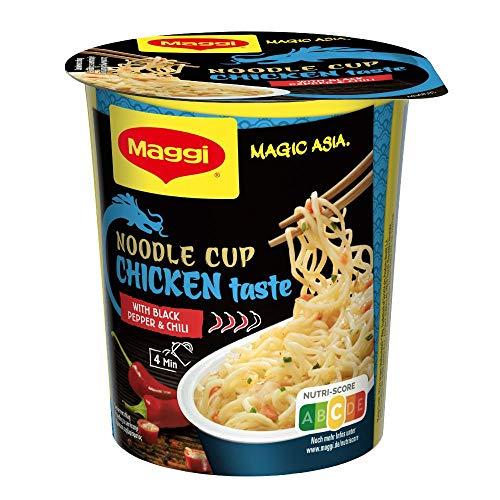 Maggi Magic Asia Chicken Noodle Cup (Instant Nudel-Snack, asiatisches Fertiggericht, mit Gemüse verfeinert) Hühnchen-Geschmack, 1er Pack (1 x 63g)