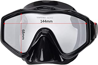 XY Swimming Goggles - Full Dry Snorkel Set Diving Equipment Diving Goggles Water Sports Glasses (Color : Black)