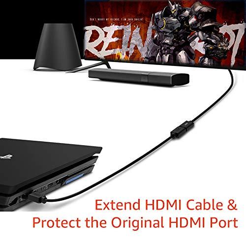 Techrum Hochgeschwindigkeits HDMI Verlängerungskabel HDMI Verlängerung 4K@60Hz HDMI 2.0a/b Kabel Kurz 3D 0,2m für Fire TV Stick/Roku/Chromecast