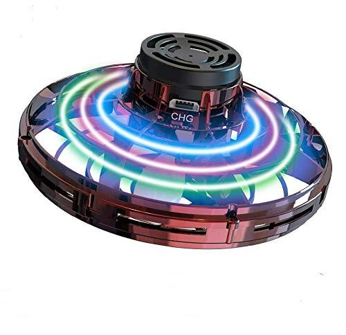 Gardom UFO Mini Drohne Flying Spinner Spielzeug Fliegender Ball Handsteuerung USB-wiederaufladbarer Hubschrauber-Mini-Drohne, ideales Weihnachts/Geburtstagsgeschenk für Kinder und Erwachsene