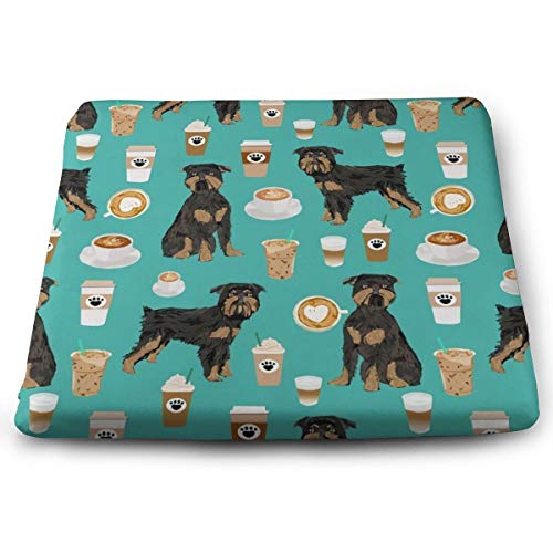 BathWang Memory Foam Chair Cushion Ultimate Comfort and Softness Vierkant 15