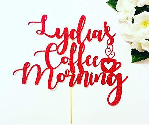 Ad4ssdu4 Kaffee-Kuchen-Topper-Kuchen-Topper Kaffee-Kuchen-Topper Kaffee-Morgen-Kuchen-Morgen-personalisierter Kuchen-Topper