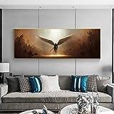Juego en línea Dark Angel The Archangel of Justice Angel Tyrael Wings Lienzo Pintura Arte de la pared Póster Dormitorio Sala de estar Sala de juegos Club Studio Decoración para el hogar Mura