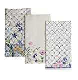 Maison d' Hermine Faïence 100% Cotton Set of 3 Multi-Purpose Kitchen Towel Soft Absorbent Dish Towels | Tea Towels | Bar Towels (20 Inch by 27.50 Inch)