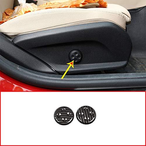 ABS Bouton en Plastique Bouton De Réglage du Bouton Couverture Garniture Voiture Accessoires en Fiber De Carbone Style pour GLC CLS Classe E C W205 W212 W213