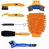 SONSYON Herramientas de Limpieza para Bicicleta - Kit de Limpieza de Bicicletas Profesional Limpieza para Cadenas y Llantas Cepillo de Limpieza de Bicicletas