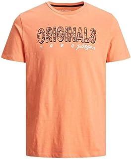 Jack & Jones Men's Originals Shell Coral Placement T-Shirt