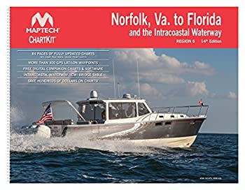 Norfolk VA to Florida and the Intracoastal Waterway MAPTECH® ChartKit Region 6 14th Edition