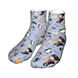 Mary Poppins Pattern Durable Men's and Women's Cotton Comfort Socks/Bags Outdoor Sports Competitive Hiking Hiking Socks