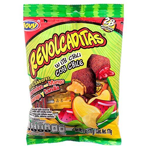 Jovy Revolcaditas Sandia y Mango Flavor Mexican Candy (1 x 6 oz. Bag)