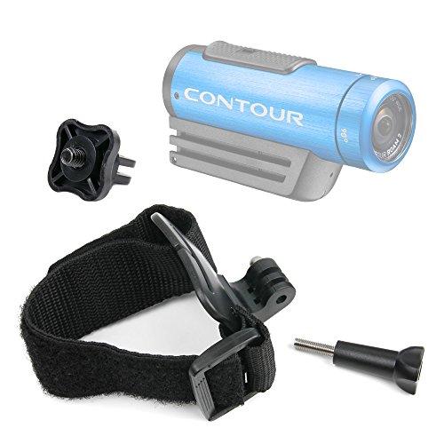 DURAGADGET Premium Quality Contour Action Camera Wrist Mount - Adjustable Wrist Strap Handle Mount Fastening for Contour +2, Contour Roam 2 & Contour Roam - Plus Bonus GoPro Screw Thread Adapter!