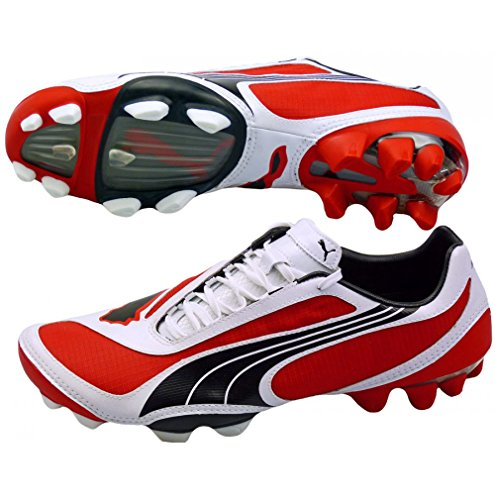 Puma V1.08 i FG Mens Football Boots Cleats - Red-Red-40
