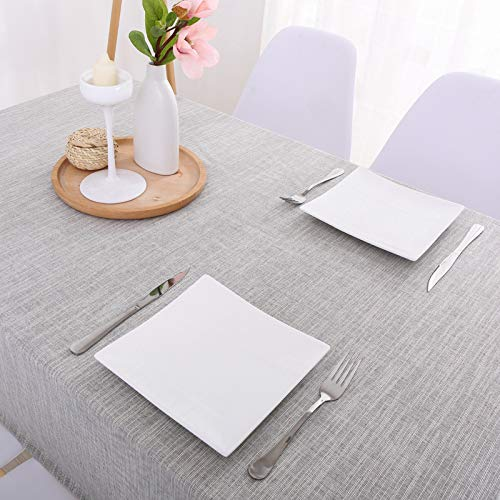 CYYyang Table Cloth Cover for Kitchen Dining Farmhouse Table Top Decoration Japanese style solid color book waterproof linen