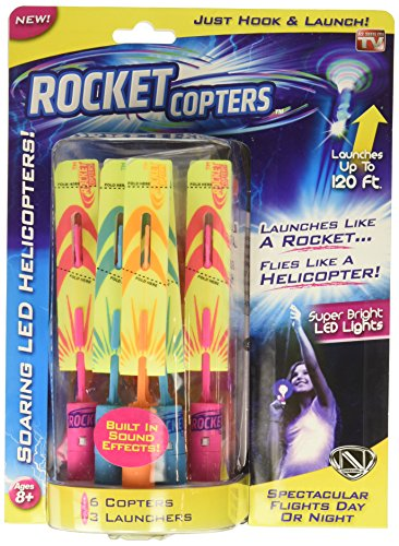 Rocket Copters - The Amazing Slingshot LED Helicopters - As Seen...