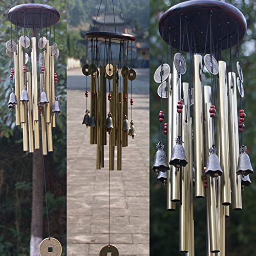 13x Sonajeros Campanillas De Viento De Aluminio De Madera para El Jardín, Decoración Colgante para Interiores Y Exteriores
