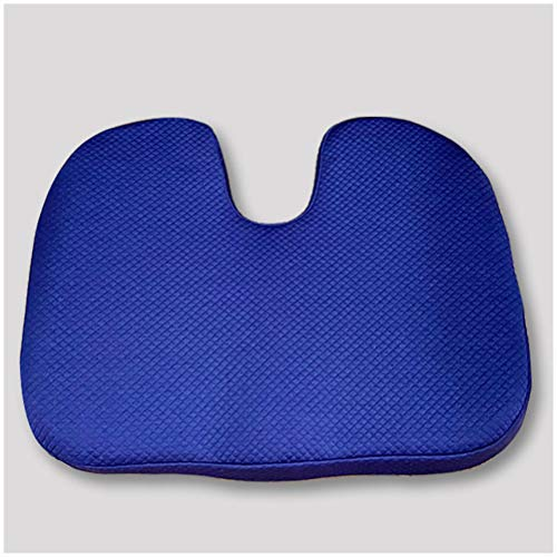 GFPR Everlasting Comfort Seat Cushion For Office Chair - Coccyx Cushion - Sciatica Pillow For Sitting - For Work, Driving, Hemorrhoids, Pregnant Women blue