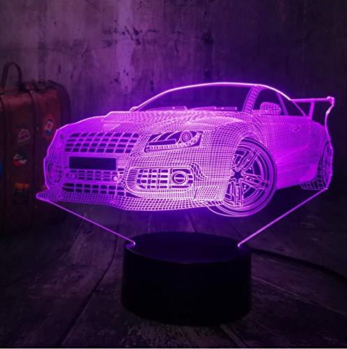 7 colores LED Touch lámpara de mesa luz de noche 3D LED USB RGB mesa escritorio lámpara decoración del hogar bombilla niño regalo de Navidad regalo especial