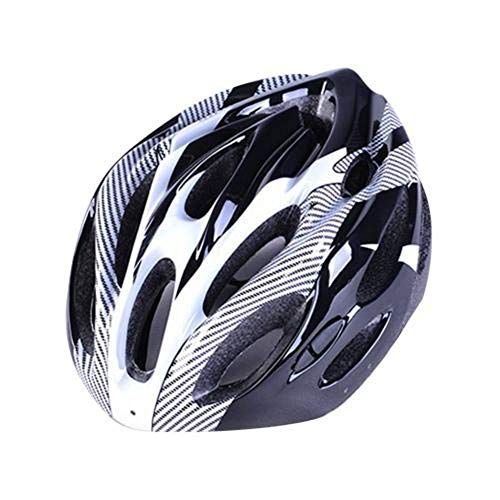 No/Brand Casco de Bicicleta, Elegante Casco de Bicicleta de montaña Ajustable a Prueba de Golpes de Fibra de Carbono, Equipo de Ciclismo Unisex Multicolor
