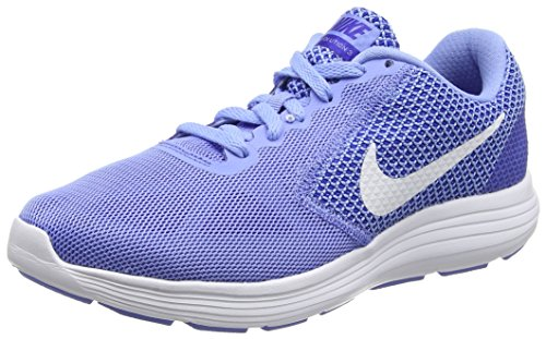 Nike Damen Revolution 3 Laufschuhe, Blau (Chalk Blue/White-Conco Red), 38 EU / 7 US