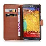 Cadorabo Funda Libro para Samsung Galaxy Note 3 Neo en MARRÓN Chocolate - Cubierta Proteccíon con Cierre Magnético, Tarjetero y Función de Suporte - Etui Case Cover Carcasa