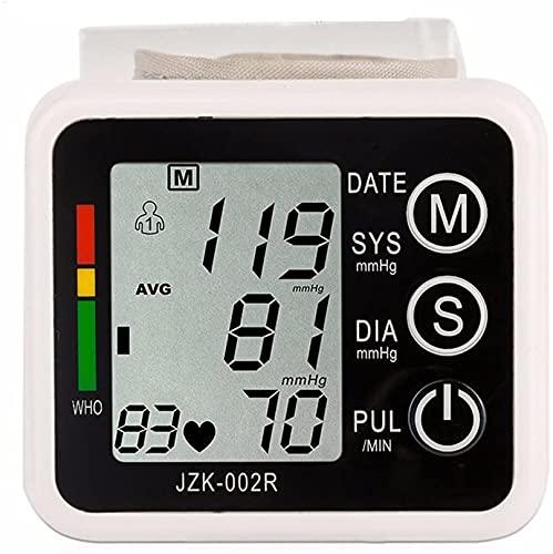 WERTY Handgelenk-Blutdruckmessgerät, große Manschette, vollautomatischer LCD-Display-Blutdruckmessgerät, Puls diastolischer systolischer und hypertonischer Ebene, Home-Nutzung, Speicherladen