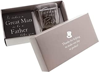 Father of the Bride Whiskey Glass and Coaster Gift Set By Haysom Interiors