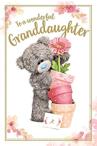 Granddaughter Me To You Bear Tatty Teddy Carte Blanche PhotoFinish Birthday Card