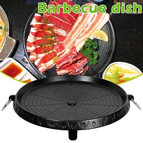 Juntful Ronde Barbecue Schaal Koreaanse Barbecue Bakplaat Ronde Plaat Antistick Pan voor Thuis Outdoor Camping