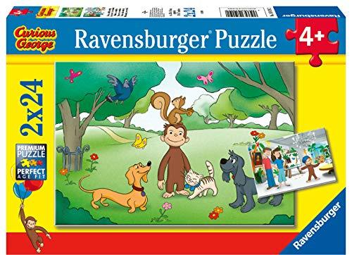 Ravensburger George Puzzle, 2 x 24 Pezzi, 05019