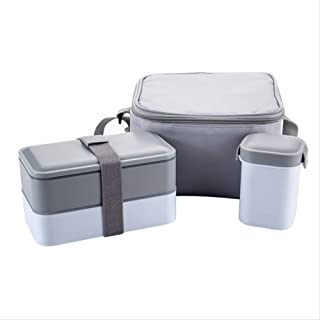 HHQSC Lunch Box Double-Layer Stainless Steel Lunch Box with Handle Picnic Box Thermos Food Container 800ml 1l 1.3l Tableware