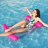 FANIER Flotador hinchable Piscina Flotador Hamaca de Natación, Flotador ligero de asiento cama de hamaca para playa o vacaciones