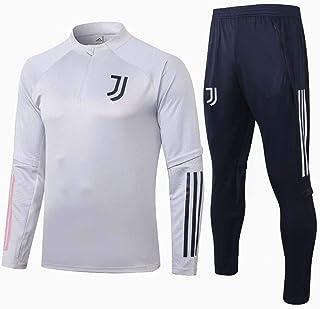 JUY サッカーユニフォーム, 大人用ユニフォーム上下セット, ユベントスのユニフォーム、長袖のカジュアルゲームスーツ、スポーツウェア、フットボールジャージ、ラウンドネックジャージ、フットボールジャージートレーニングシャツ、トレーニングウェア、...