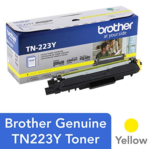 Genuine , Standard Yield Toner Cartridge, Replacement Yellow Toner, Page Yield Up to 1,300 Pages, TN223, Amazon Dash Replenishment Cartridge - Brother TN223Y