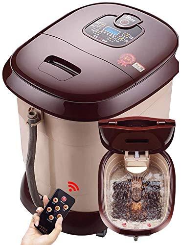 Fuß Wanne Elektrischer Fuß Massagegeräte Elektro-Brunnen Massage Schaumlöffel Automatische Beheizte Waschtisch Schönheitssalon Pediküre Home Health Acht Roller (Farbe: Braun Größe: 49 * 40