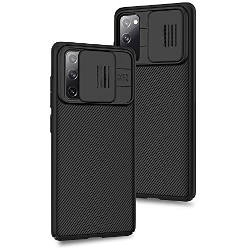 XTCASE für Samsung Galaxy S20 FE Hülle, Ultra Dünn Handyhülle mit Kameraschutz - Kamera Schutz mit Schieber, Hybrid PC + TPU Hülle für Samsung Galaxy S20 FE 4G/5G - Schwarz
