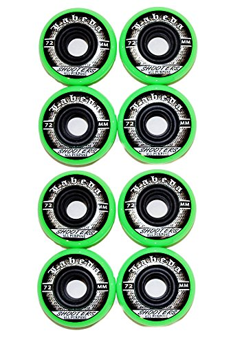 Labeda 4er 8er Set Shooters Hockey Rollen 72mm/78A Streethockey Inliner Skates Allround 18-N2 (8er Set - Rollen)