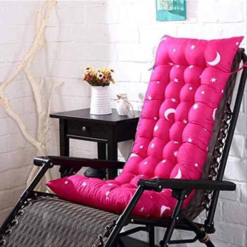 NoNo Lang kussen ligstoel kussen dikke opvouwbare schommelstoel kussen lange stoel zitbank pads tuinligstoel mat 40x110cm roze