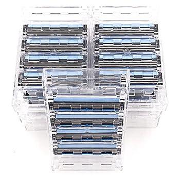 Taconic Shave 40 Triple Razor Blade Cartridges – Compatible with Gillette Sensor Sensor Excel Sensor 3 Sensor 2 & Personna Triflexx Razor Handles – Flexing Blades adust to your skin s contrours
