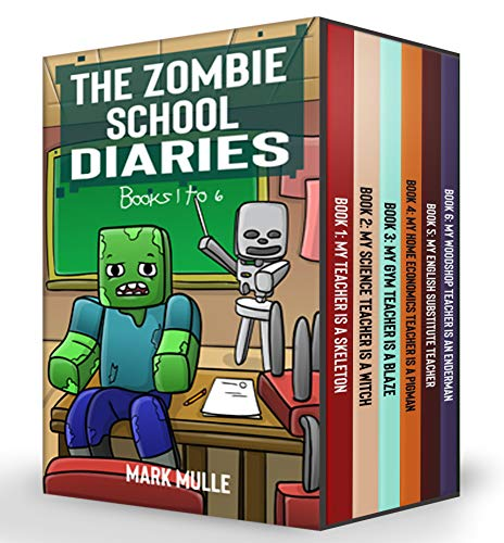 The Zombie School Diaries Books 1 to 6: Unofficial Diary of a Minecraft Zombie - Adventure Fan Fiction Minecraft Book for Kids, Teens and Minecrafters - Bundle Box Sets