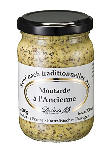 Moutarde à l'Ancienne, Senf nach traditioneller Art, grober Senf aus Frankreich, 200g
