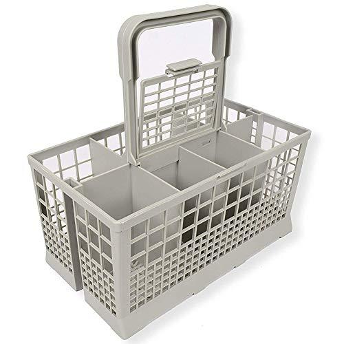 Gelentea Panier à couverts universel portable pour vaisselle argentée, fourchette et cuillère, convient pour Kenmore, Whirlpool, Bosch, Maytag, Kitchenaid, Maytag, Samsung
