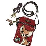 CHALA Crossbody Cell Phone Purse   Women's Wristlet Handbags with Adjustable Strap (Chihuahua)